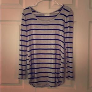Gray and black striped top
